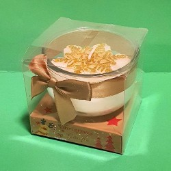 CHRISTMAS CANDLE IN GIFT BOX - GOLD