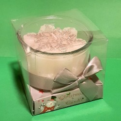 CHRISTMAS CANDLE IN GIFT BOX - SILVER