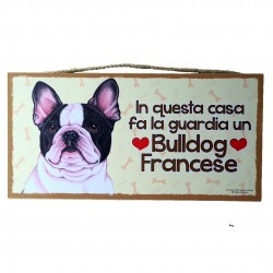 FRENCH BULLDOG - wooden plaque