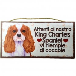 KING CHARLES SPANIEL - wooden plaque