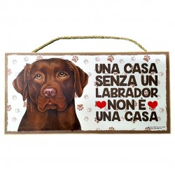 LABRADOR BROWN - wooden plaque