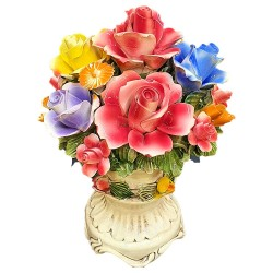 ROUND VASE MIXED FLOWERS - A0612